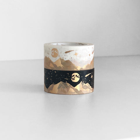 Mountain Landscape Washi Tape (Monochrome) - PapergeekCo