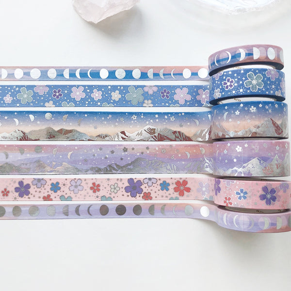 SAKURA FIELD Washi Tape (APRIL Release) - PapergeekCo