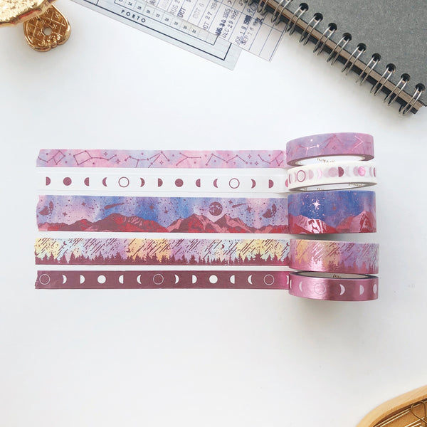 PapergeekCo X Simply WatercolorCo washi tape Collab (JUNE Release) - PapergeekCo