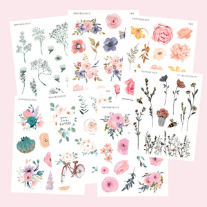 Botanical Stickers Bundle 2.0 - PapergeekCo
