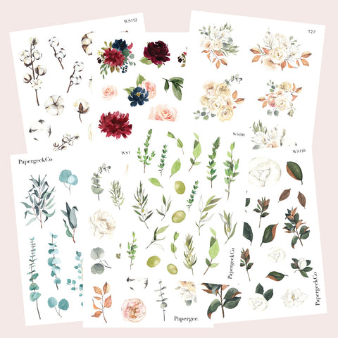 Botanical Stickers Bundle - PapergeekCo