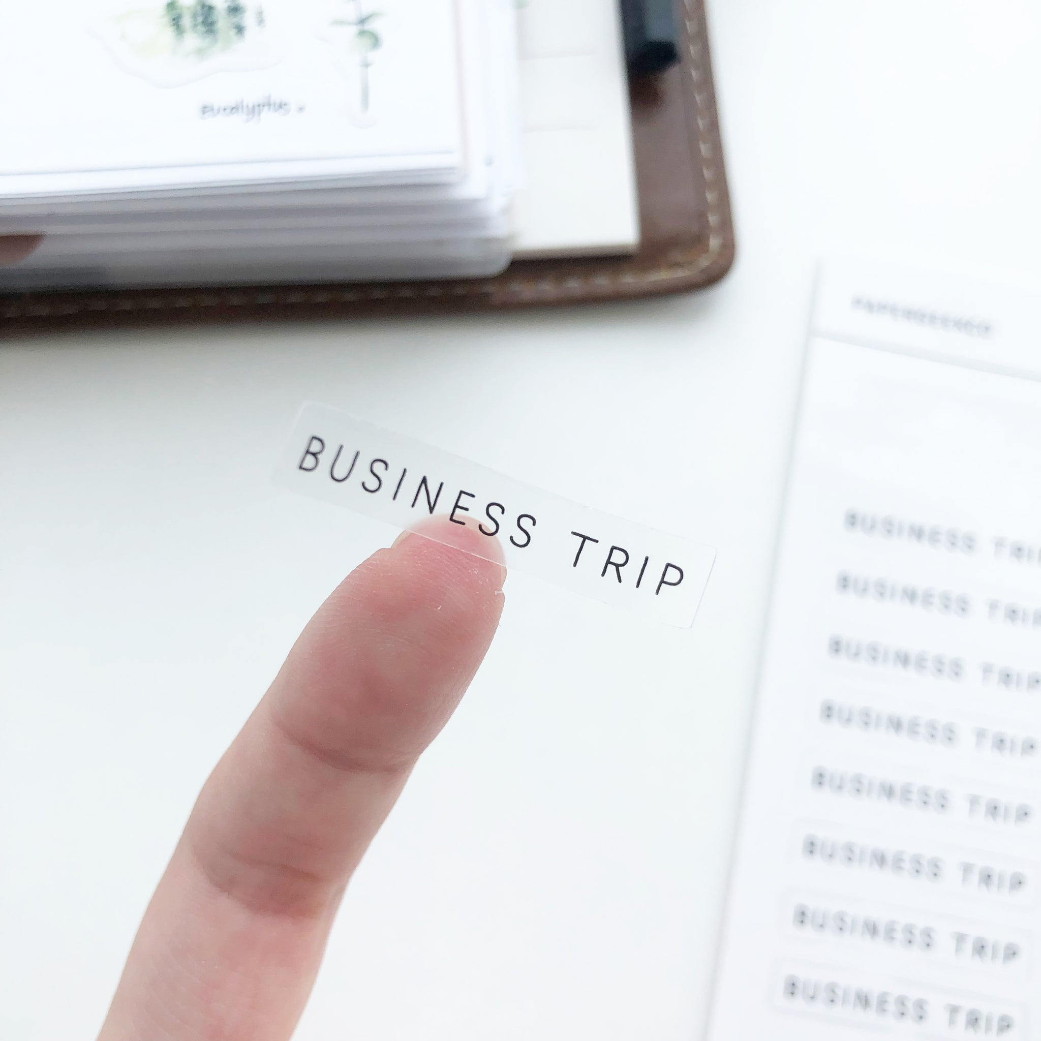 Business Trip Clear Stickers - PapergeekCo