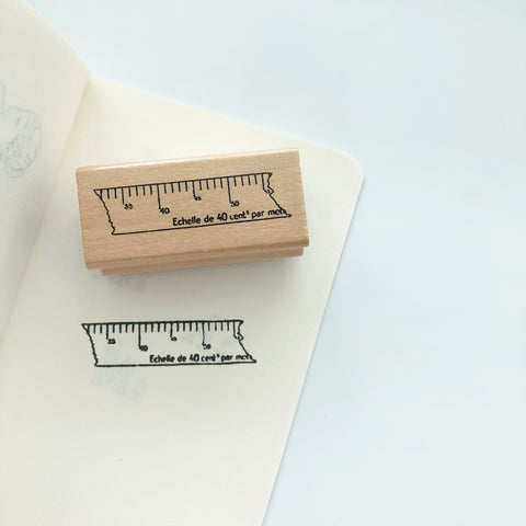 Ruler Ripped Washi Rubber Stamp - PapergeekCo
