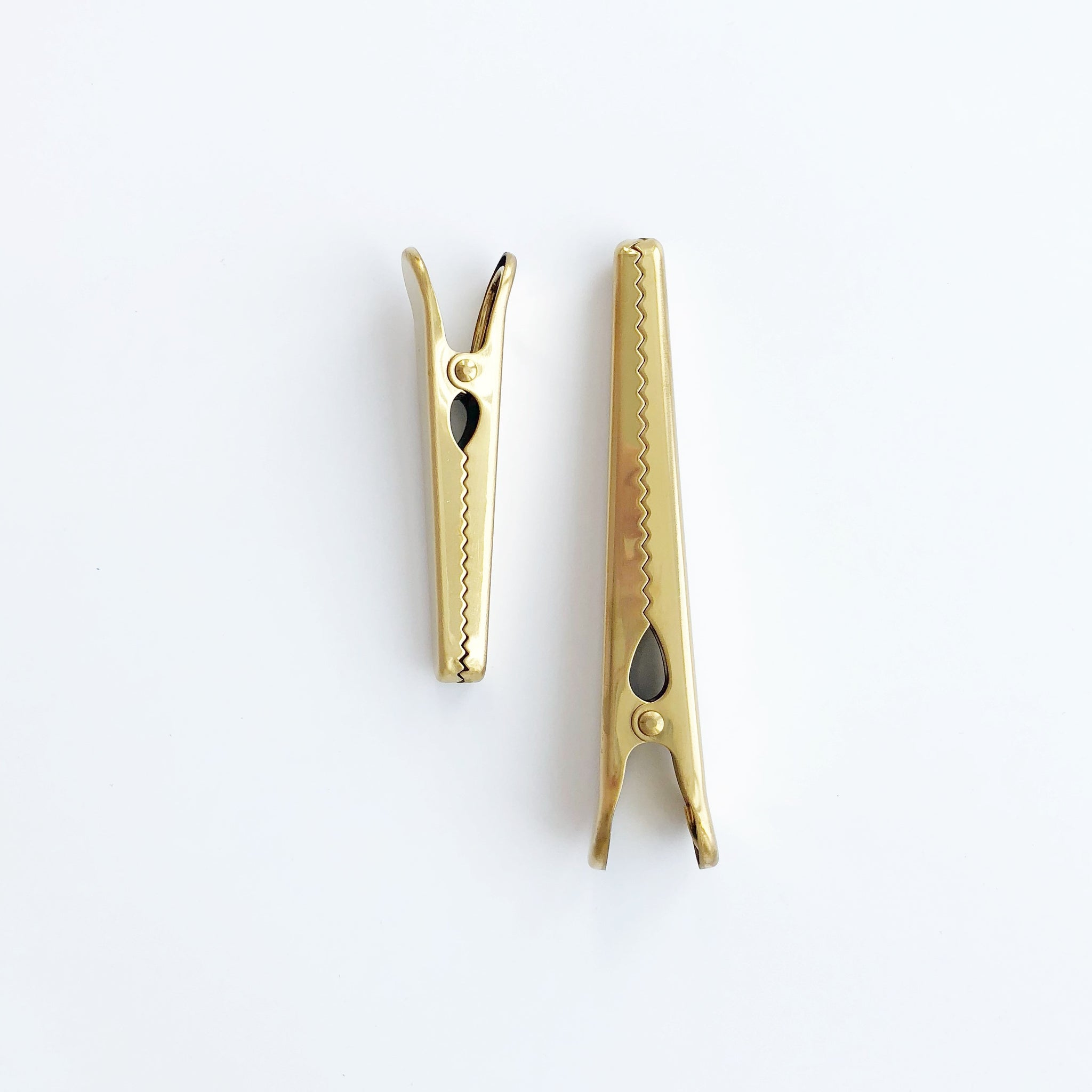 Brass Gold Alligator Clip