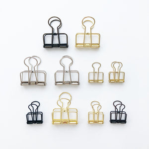 Binder Clips / Ligne Clips - PapergeekCo