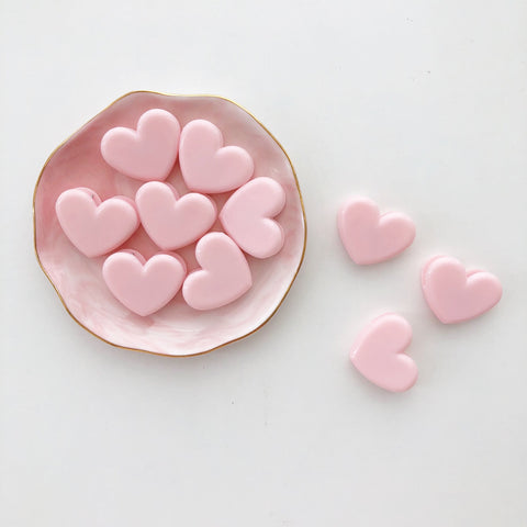 Pink Heart Shape Clips
