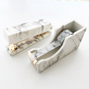 Marble Stapler & Tape Dispenser Set - PapergeekCo