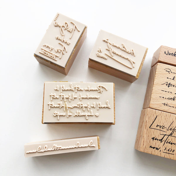 Handwriting Rubber Stamp set - PapergeekCo
