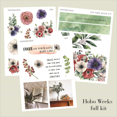 Hobo Weeks Kit - Anemone - PapergeekCo