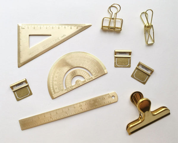 Brass Ruler - PapergeekCo