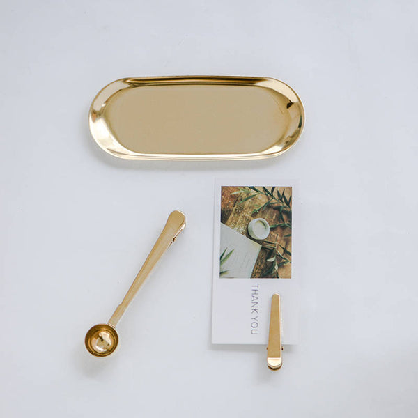 Gold Tray - Jewelry Dish Ring Dish