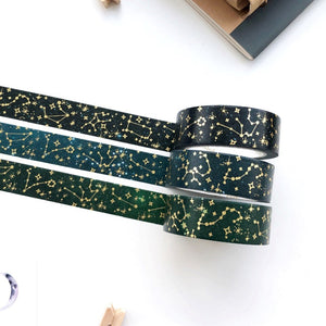 Dark Sky - Constellation Gold Foil Washi Tape - PapergeekCo
