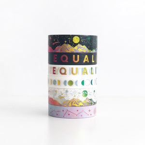 EQUALITY Washi Tape EXCLUSIVES (Rainbow Foil) SEPT