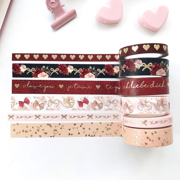 Je'taime Valentine Washi Tape LIMITED EDITION - PapergeekCo