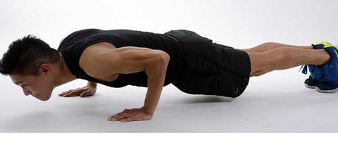 Superb Pushups U2013 Lay On Your Stomach On The Ground. Place Your Hands Flat Against The  Floor On Either Side Of Your Chest. Keeping Your Back Straight, ...
