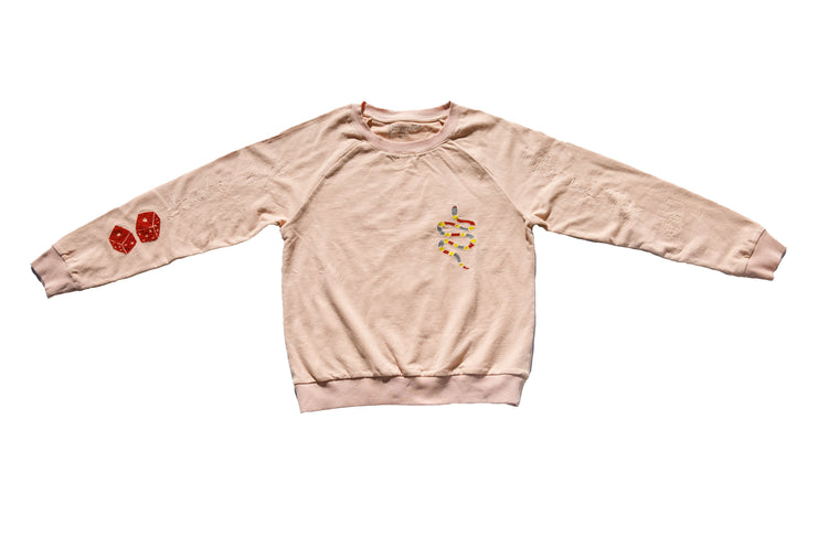 THE GAMBLER SWEATSHIRT | ROSE QUARTZ
