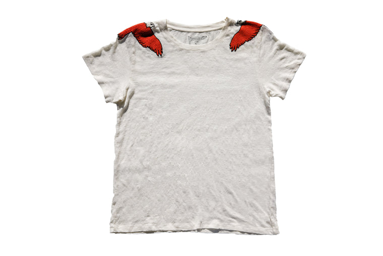 SOARING BALD EAGLE LINEN TEE | BONE - New!