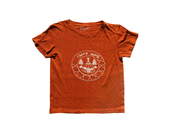 CAMP HOME LINEN TEE | TERRACOTTA - New!