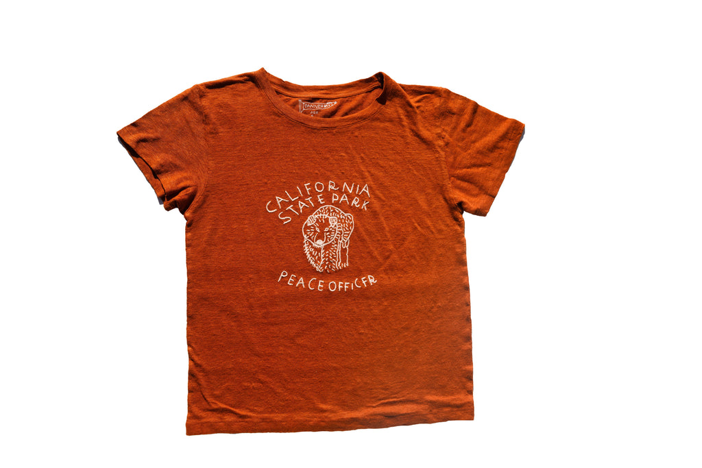 CALIFORNIA PEACE OFFICER LINEN TEE | TERRACOTTA - New!
