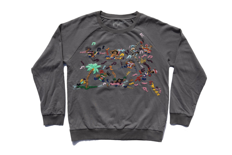BAND SCENE SWEATSHIRT UNISEX | CHARCOAL