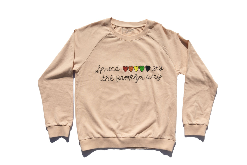 SPREAD LOVE SWEATSHIRT | ROSE QUARTZ