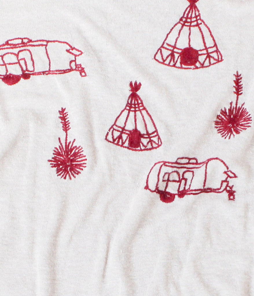 embroidered linen tee