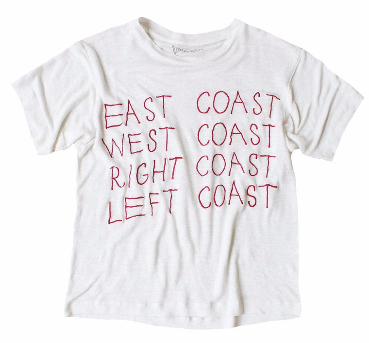 EAST COAST WEST COAST LINEN TEE
