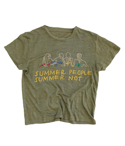 embroidered linen tee Summer People