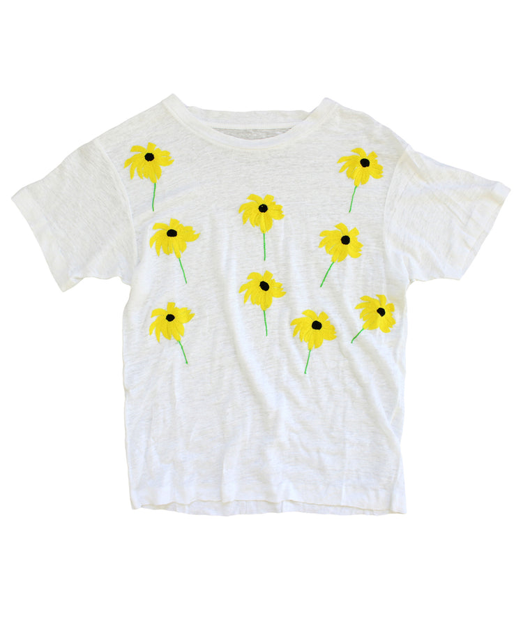 SUNFLOWER LINEN TEE