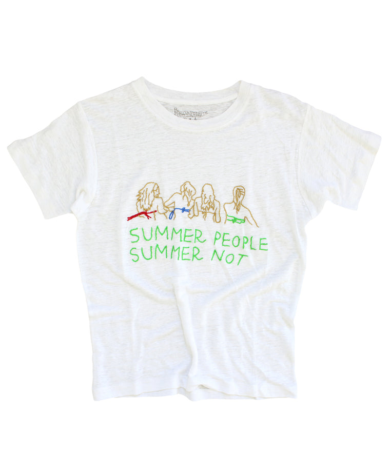 SUMMER PEOPLE SUMMER NOT LINEN TEE