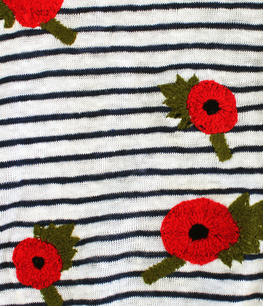 British Poppies, Striped