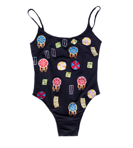 embroidered bathing suit summer one piece