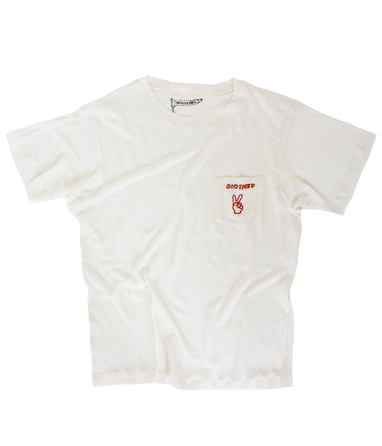 God Speed Pocket Tee, Bone