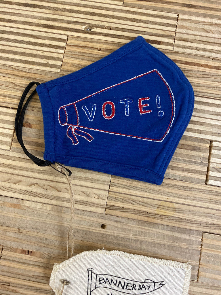 VOTE EMBROIDERED MASK | ROYAL BLUE