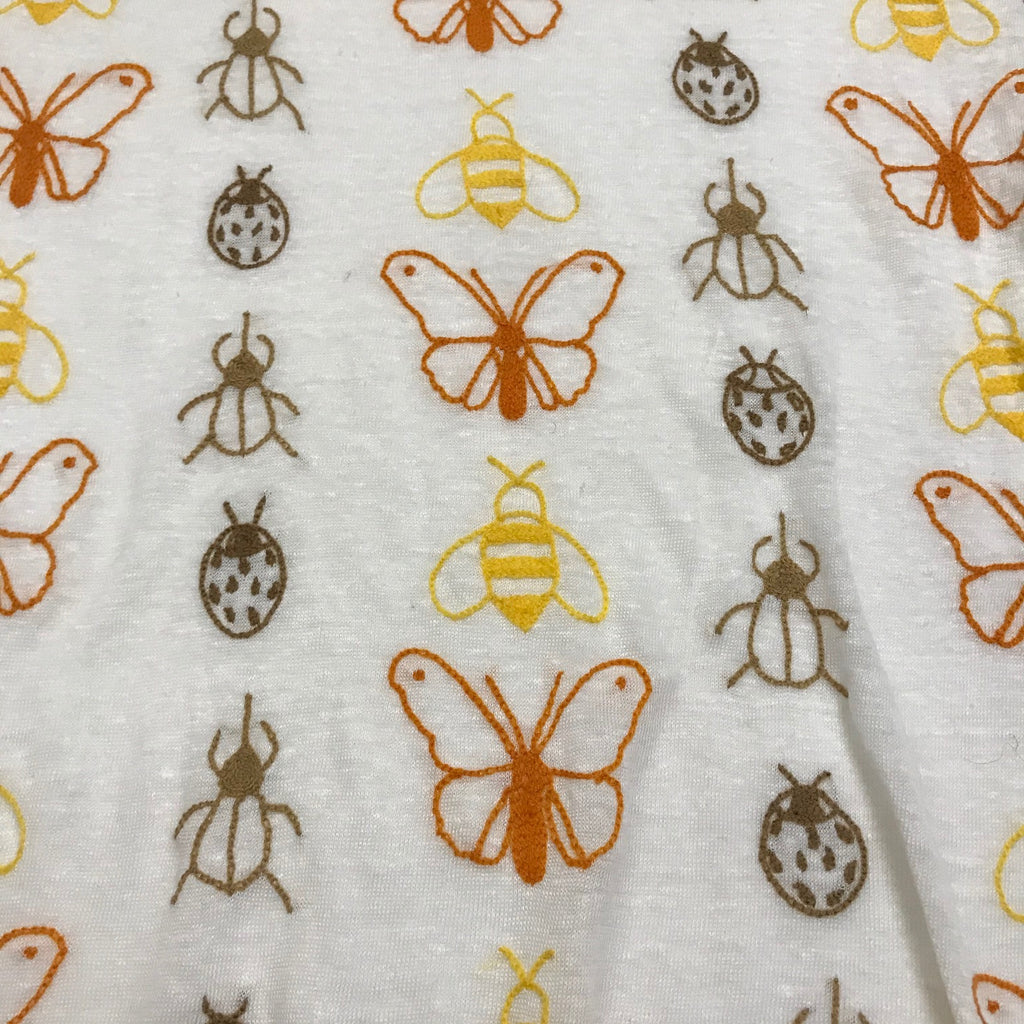 (last one) BUTTERFLIES & BUGS, Bone (size 2)