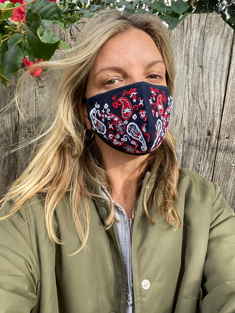 EMBROIDERED BANDANA MASK - NEW!