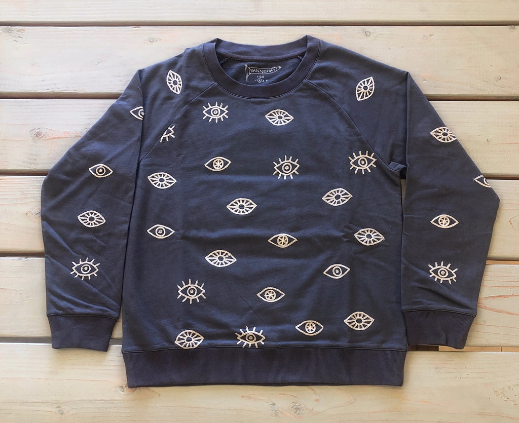 EVIL EYE SWEATSHIRT | CHARCOAL  *NEW ARRIVAL