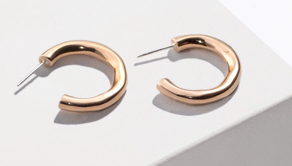 PAMELA LOVE Classic Hoop Earrings, Brass
