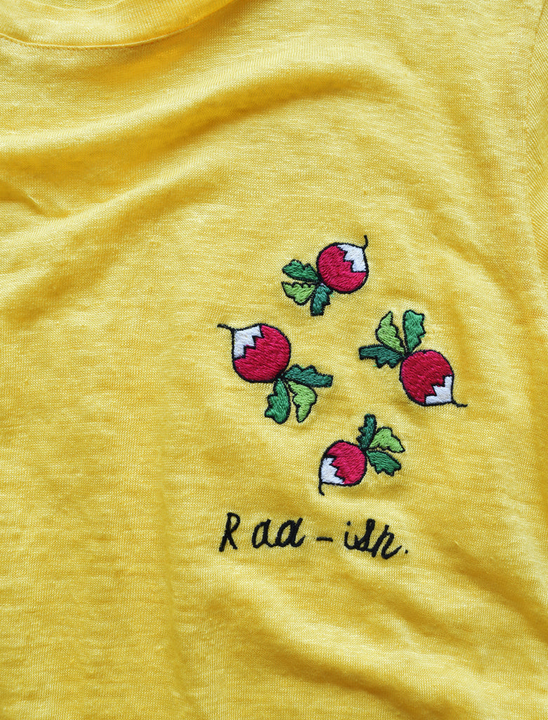 RAD-ISH LINEN TEE | YELLOW