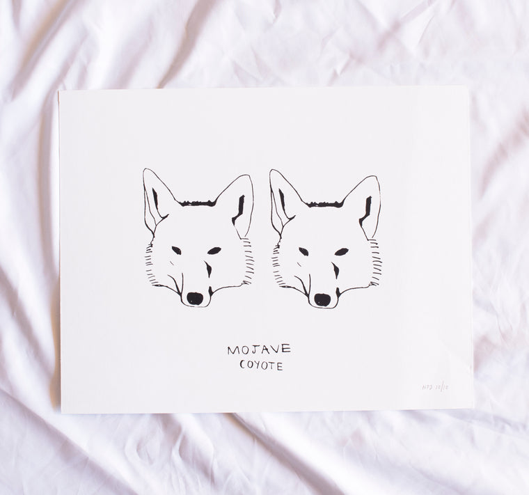 POSTER, TWO COYOTES