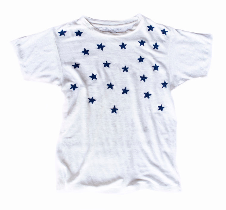 STARRY NIGHT LINEN TEE | BONE