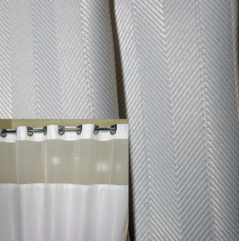 Herringbone Ezy-Hang Shower Curtain