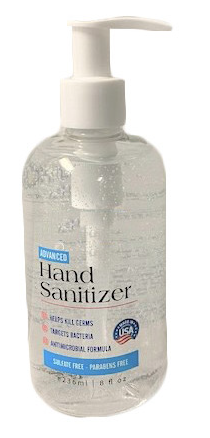 Hand Sanitizer - 8 ounce Bottle - 20 or 24 per case