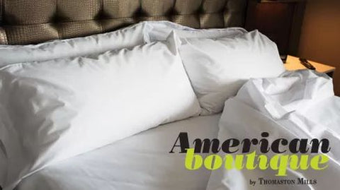 American Boutique T300 100% Cotton Sateen White Fitted Sheets