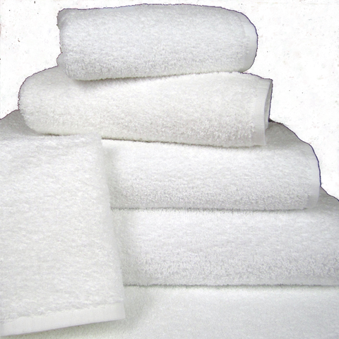 Borderless Premium Bath Towels 100% Cotton White