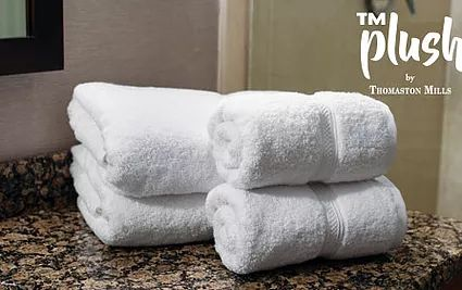 PLUSH™ Luxury Bath Mats 100% Cotton White