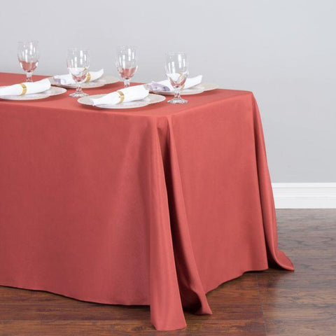 "Tablecloth - Rectangle with Round Corner - Milliken Visa Polyester 108"" x 180"" RC"