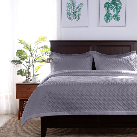 Radiance™ Diamond Pillow Sham - Gray