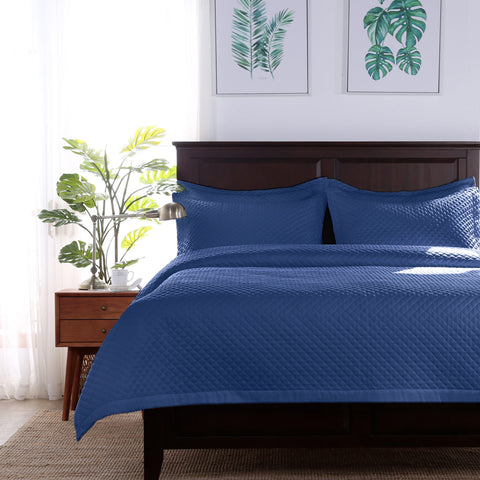 Radiance™ Diamond Pillow Sham - Persian Blue