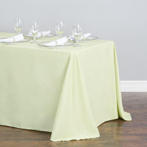 "Tablecloth - Rectangle with Round Corner - Poly Poplin 108"" x 132"" RC"
